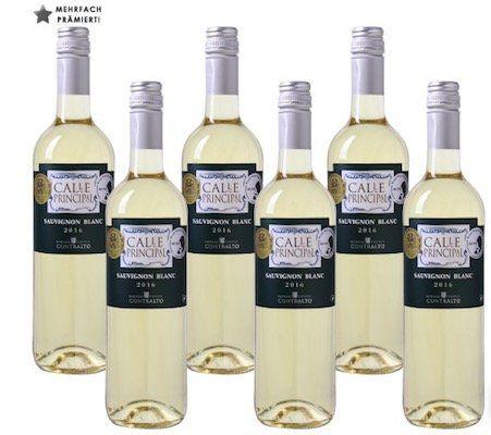 6 Flaschen Calle Principal Sauvignon Blanc Weißwein für 24,93€