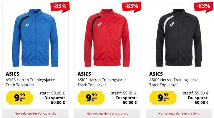 Asics Track Top Trainingsjacken für Damen und Herren für je 13,94€ (statt 25€)