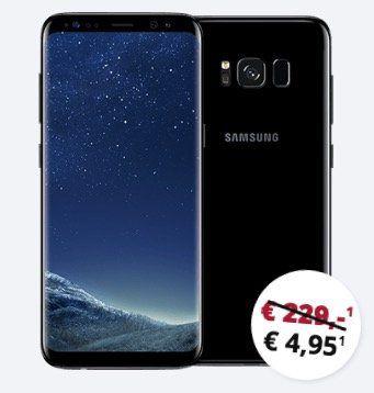 Samsung Galaxy S8 für 4,95€ + Vodafone Allnet Flat mit 3GB für 18,48€ mtl. oder 6GB für 24,99€ mtl. + *Highspeed* Option für 5€ mtl. möglich