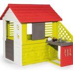 Smoby Spielhaus Natur mit Sommerküche für 125,99€ (statt 143€)