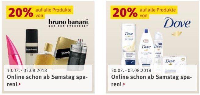 Rossmann: aktuelle Rabatt Aktionen mit u.a. 20% auf Hipp Babynahrung und 20% auf Dove & bruno banani Produkte