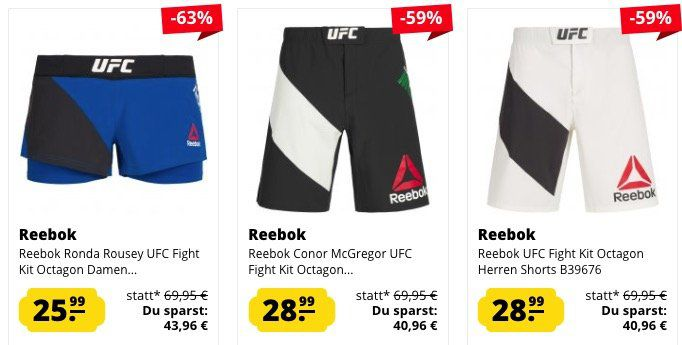 Reebok UFC Sale   z.B. Conor McGregor UFC Fight Shirt für 23,99€ (statt 29€)