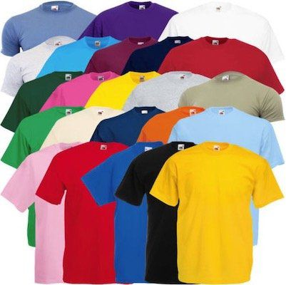 3er Pack Fruit of the Loom T Shirts Valueweight für 6,99€