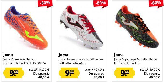 Joma Herren Fußballschuhe für je 9,99€zzgl. VSK