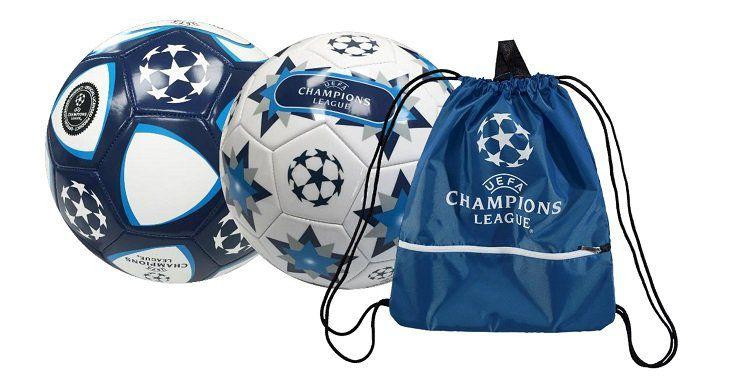 2x UEFA Champions League Fußbälle + Turnbeutel für 12,99€ (statt 37€)