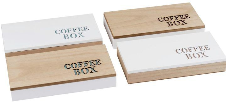 Holz Kaffeebox für Kapseln nur 3,99€