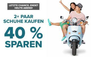 Crocs: 40% Rabatt ab 2 Paar Bestellungen + VSK frei bis Mitternacht