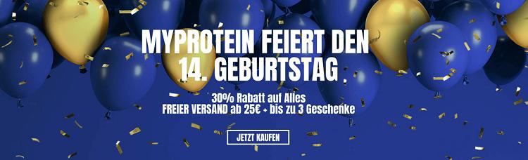 MYPROTEIN mit 30% Rabatt aus Alles + bis zu 3 Geschenkeab 45€ + VSK frei ab 25€
