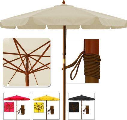 Deuba Holz Sonnenschirm 350cm für 34,95€