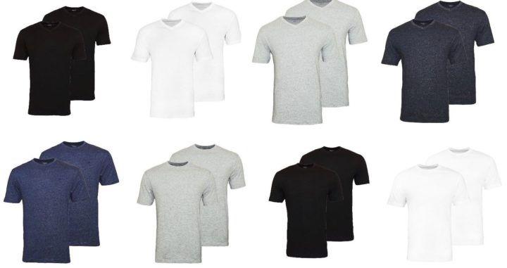 Daniel Hechter 2er Pack T Shirts Rundhals o. V Ausschnitt für je 22,22€