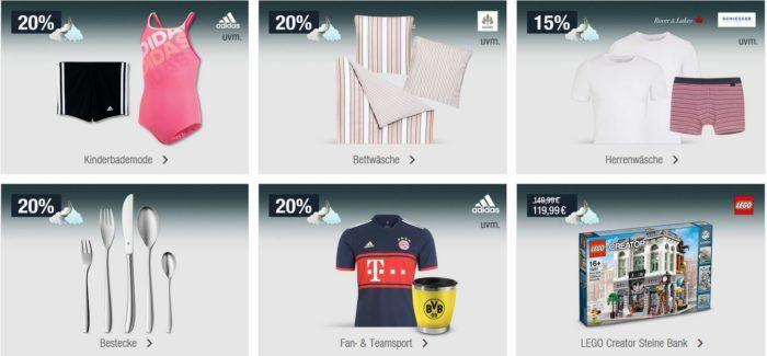 20% Rabatt auf Kinderjacken, Fan  und Teamsportartikel uvam.   Galeria Kaufhof Mondschein Angebote