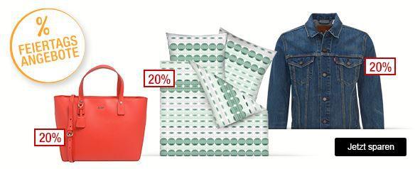 Galeria Kaufhof Feiertagsangebote bis Mitternacht   z.B. 20% Rabatt auf Damentaschen, Uhren & Schmuck, Herrenwäsche uvam.