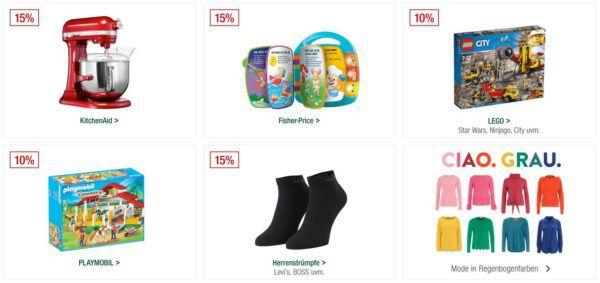 Galeria Kaufhof Sonntagsangebote   z.B. 20% auf Parfüm, Küchenartikel, Rotwein uvam.