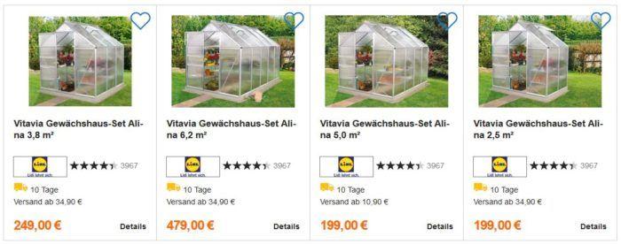 Vitavia  Alina Gewächshaus Set 5m² ab 204,95€ (statt 399€)