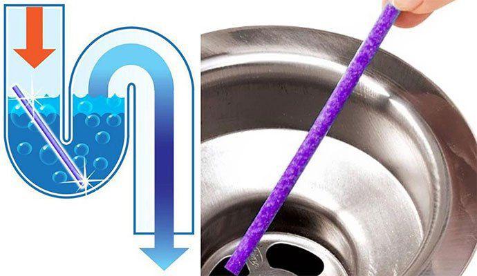 12 Sani Sticks   Hilft gegen Ablagerungen & Gerüche im Abfluss für 1,15€