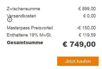 LG GBB 548 NSQFE Kühlgefrierkombination (A+++, 1850 mm, 326l Kühlteil, 119l Gefrierteil) für 749€ (statt 938€)