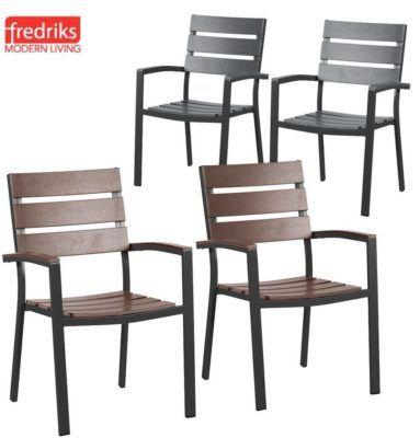 Fredriks Kudo I   2er Set Aluminium  Polywood Gartenstühle für 99,99€