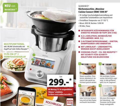 Lidl: Monsieur Cuisine connect für 299€