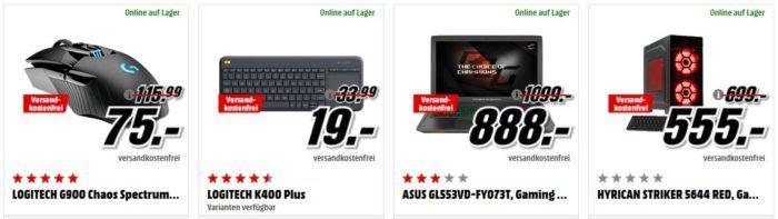 LOGITECH G Pro Gaming Maus für 37€ (statt 55€) uvm. im Media Markt Dienstag Sale