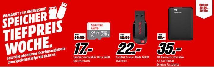 Media Markt Speicher Tiefpreiswoche heute: z.B. WD 16 TB My Cloud EX2 Ultra externe Festplatte für 479€ (statt 612€)