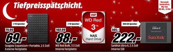 Media Markt Speicher Tiefpreisspätschicht   günstige Festplatten, SSDs & Co.