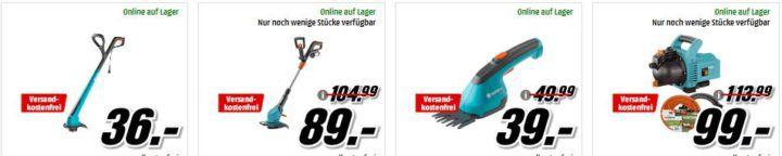 Media Markt Mega Marken Sparen: günstige Artikel von Worx, Gardena, Wolf u. Black & Decker