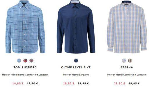 Top! Brax, Eterna, Seidensticker und andere Marken Herren Hemden ab 17,90€