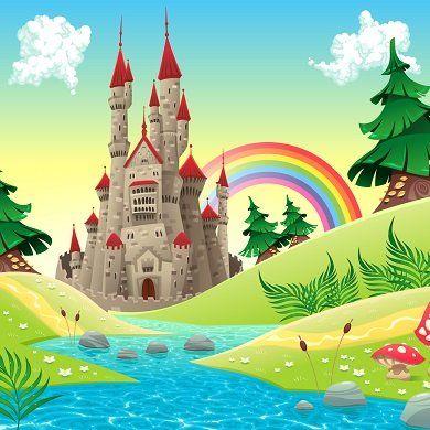 Gezeichnete Märchenlandschaft