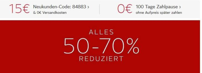 Otto.de: Shopping Festival mit min. 50 bis 70% Rabatt