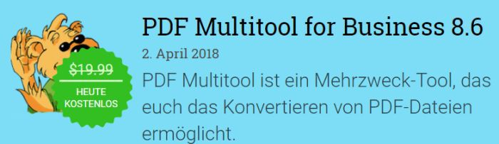 PDF Multitool for Business 8.6 (Vollversion, Windows) gratis
