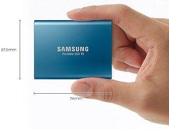 SAMSUNG Portable SSD T5, externe SSD mit 250 GB für 99€ (statt 110€)
