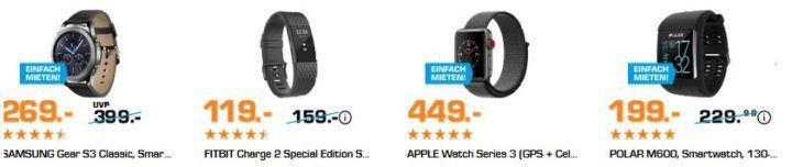 Saturn Late Night: Wearables Nacht mit günstigen Trackern   z.B. HUAWEI Band 2 Pro für 79€ (statt 90€)