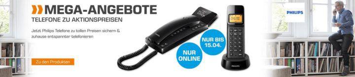 Saturn Mega Angebot: günstige Philps Haustelefone   z.B. PHILIPS D1451B/38 Schnurloses Telefon statt 23€ ab 10€