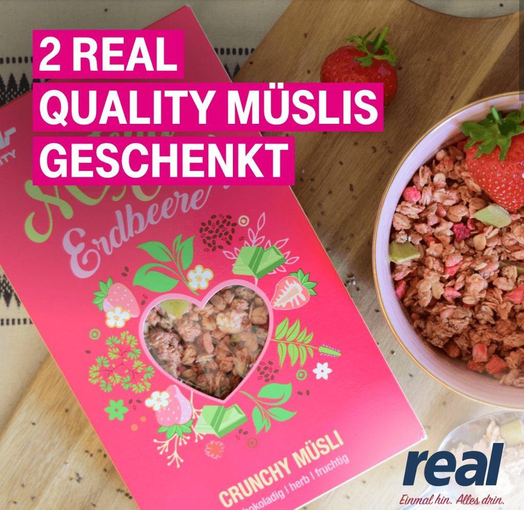 Nur für Telekom Kunden: 2x Real Quality Müsli geschenkt