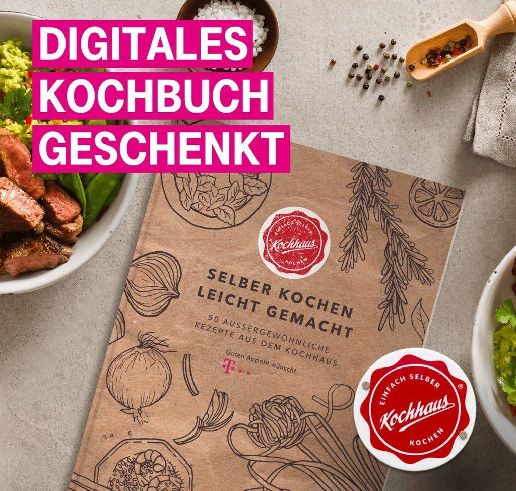 Nur für Telekom Kunden: Digitales Kochbuch geschenkt