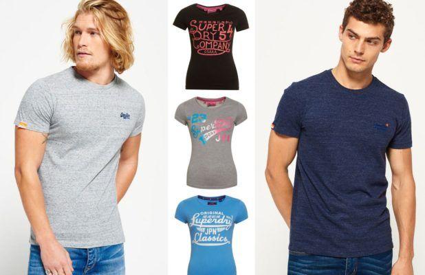 Superdry Damen & Herren T Shirts bis 3XL für je 11,95€