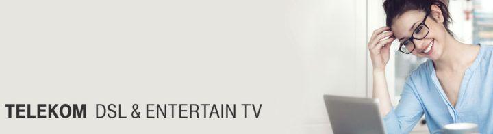 Telekom DSL & Entertainment TV für Neukunden und Wechsler bis 100 MBit/s. ab 22,66€ mtl.