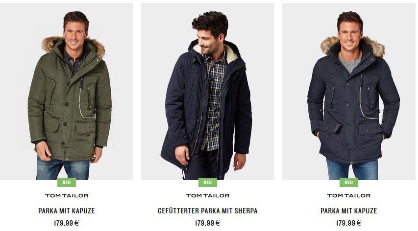 Top! Tom Tailor mit 20% extra Rabatt auf Jacken, Mäntel & Co.