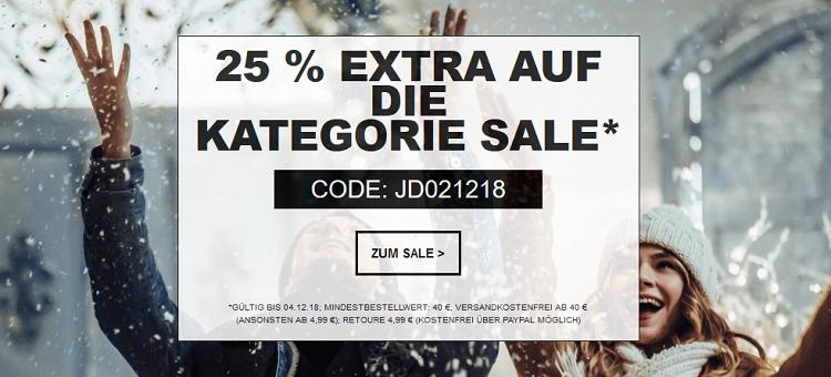 Jeans Direct bis zu 80% + 25% Extra Rabatt ab 40€ + VSK frei bis Mitternacht!