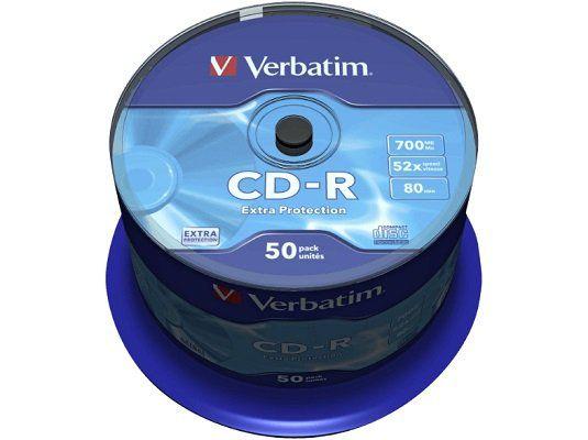 VERBATIM 43351 CD R Rohlinge 50er Spindel für 10€ (statt 12€)