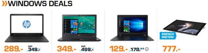 Saturn Windows Helden der Nacht: günstige Notebooks z.B. ACER Swift 3 Notebook mit 14 Zoll, i3 für 499€ (statt 599€)