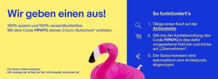 Schnell: eBay 3€ Gutschein für Restposten unter 3€ eff. für Lau