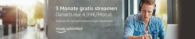 3 Monate Amazon Music Unlimited gratis    nur Prime Studenten