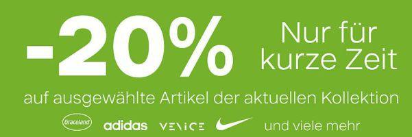 Deichman mit 20% Rabatt auf ausgewälte Schuhe, Sneaker & Co.