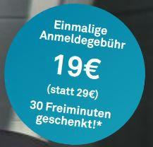 Drive Now   für Neukunden für 19€ + 30 Freiminuten (statt 29€)