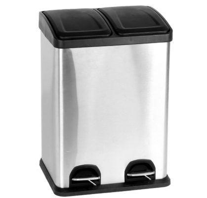 40L Duo Küchen Edelstahl Mülleimer (2x20 Liter) für 49,99€