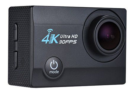 Q3H 2   4K ActionCam (16MP, 1080p/60fps, 170°, WLAN) für 21,66€