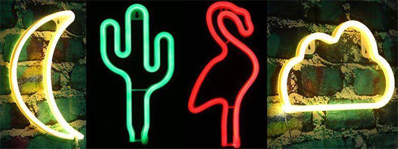 Verschiedene LED Neonlampen für je 7,49€