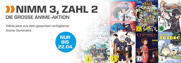 Anime Aktion   Nimm 3, Zahl 2 bei Saturn