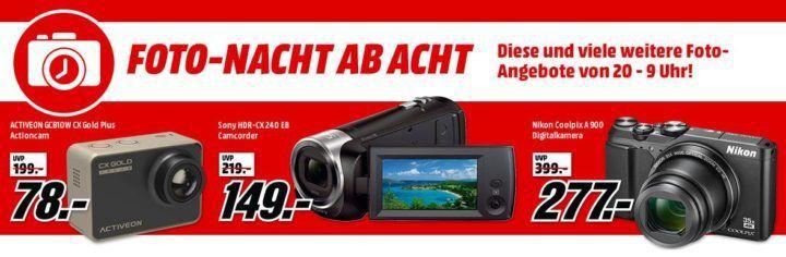 Media Markt Foto Late Night: z.B. NIKON Coolpix A900 Kompaktkamera für 277€ statt 315€
